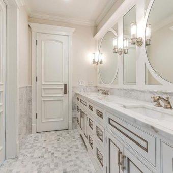Newstone granite countertops chicago in bathroom